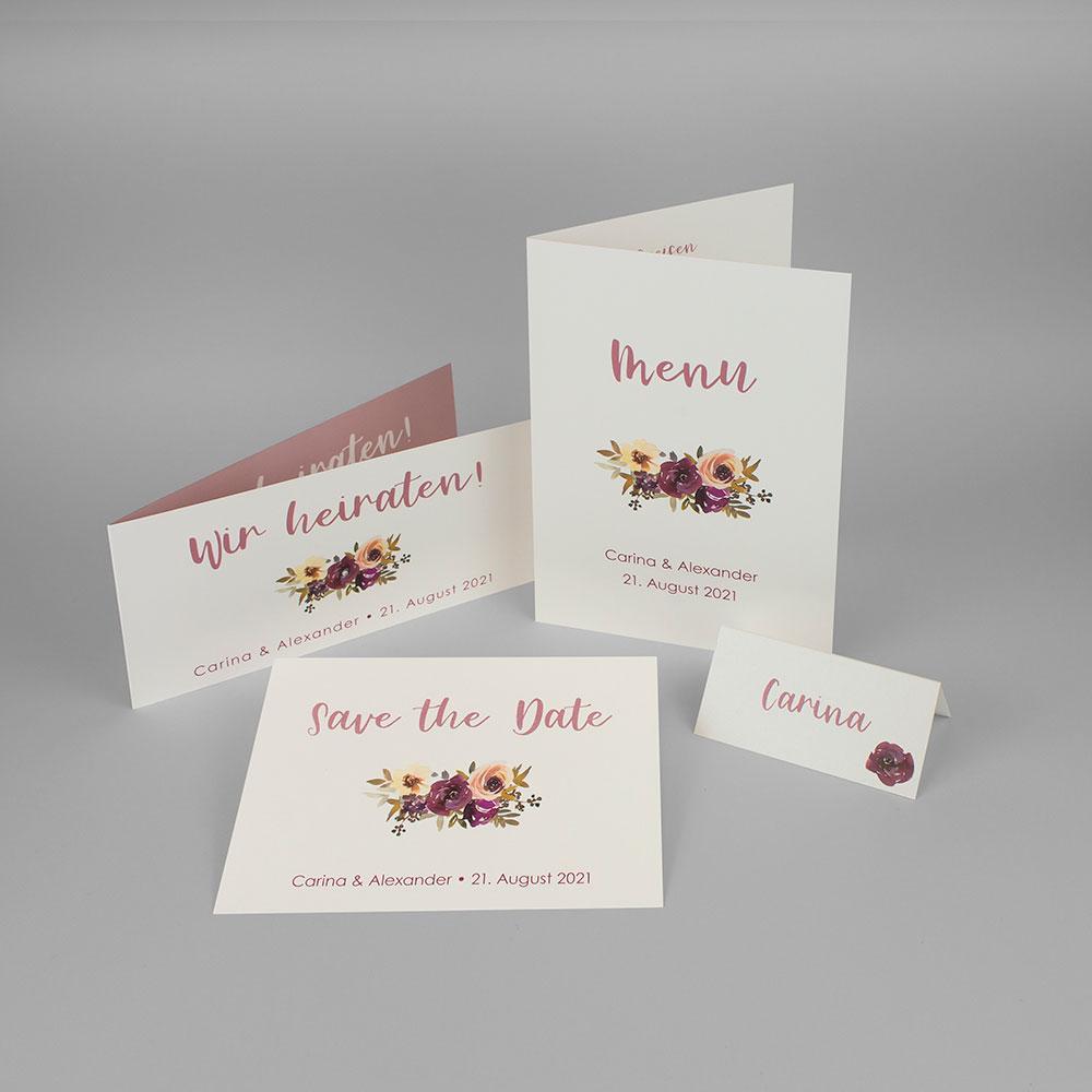 Hochzeitskarten Set