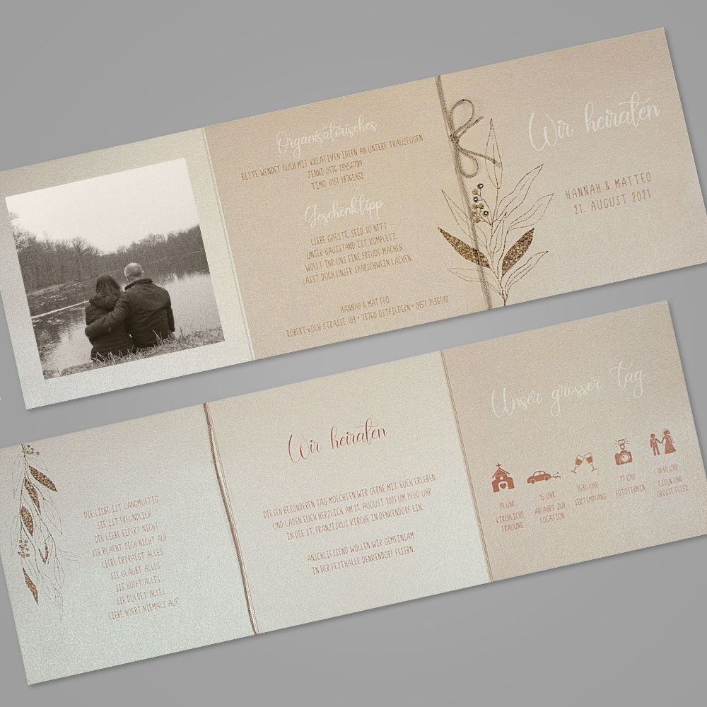 Florale Einladungskarte (Nr. 505650)