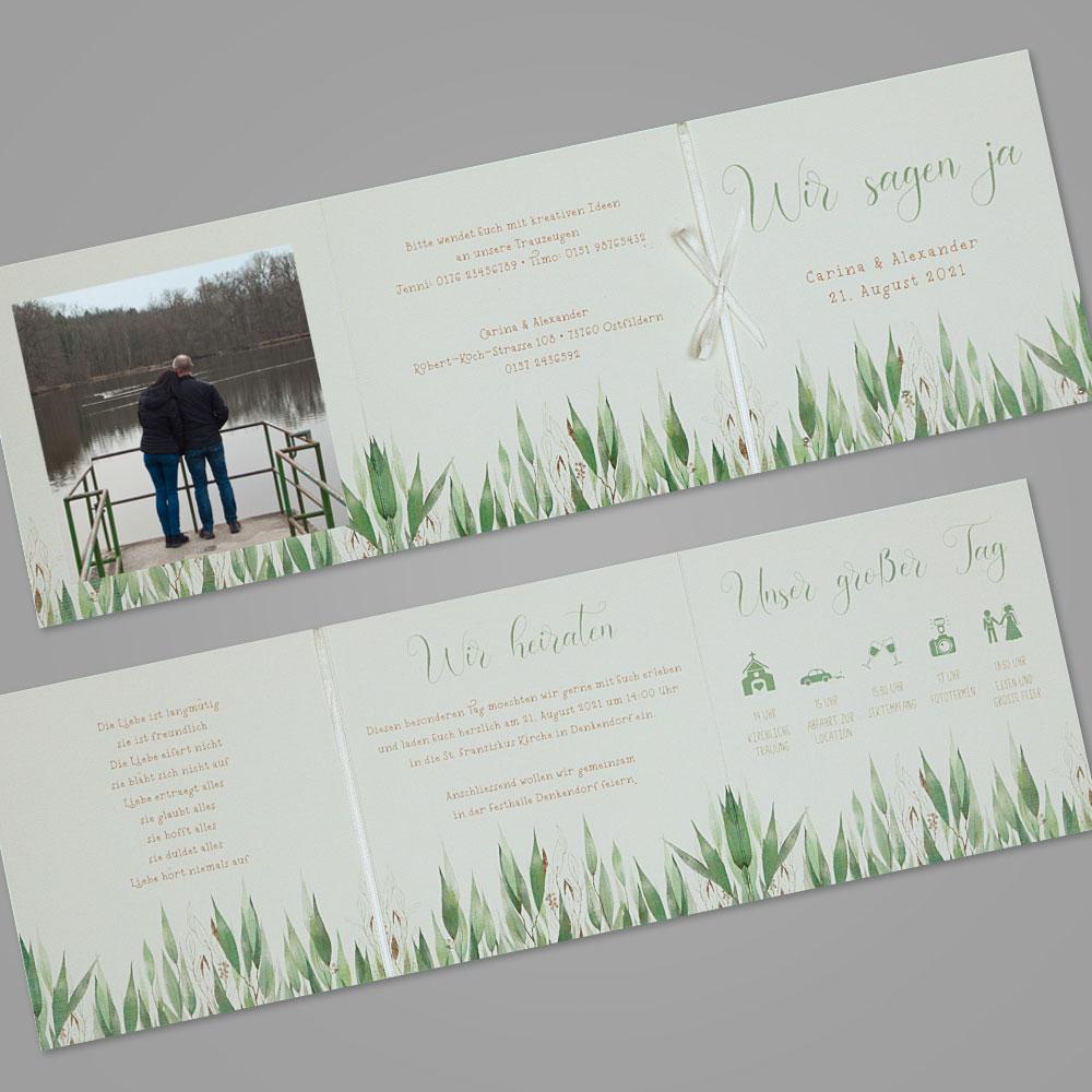 Florale Einladungskarte (Nr. 505657)