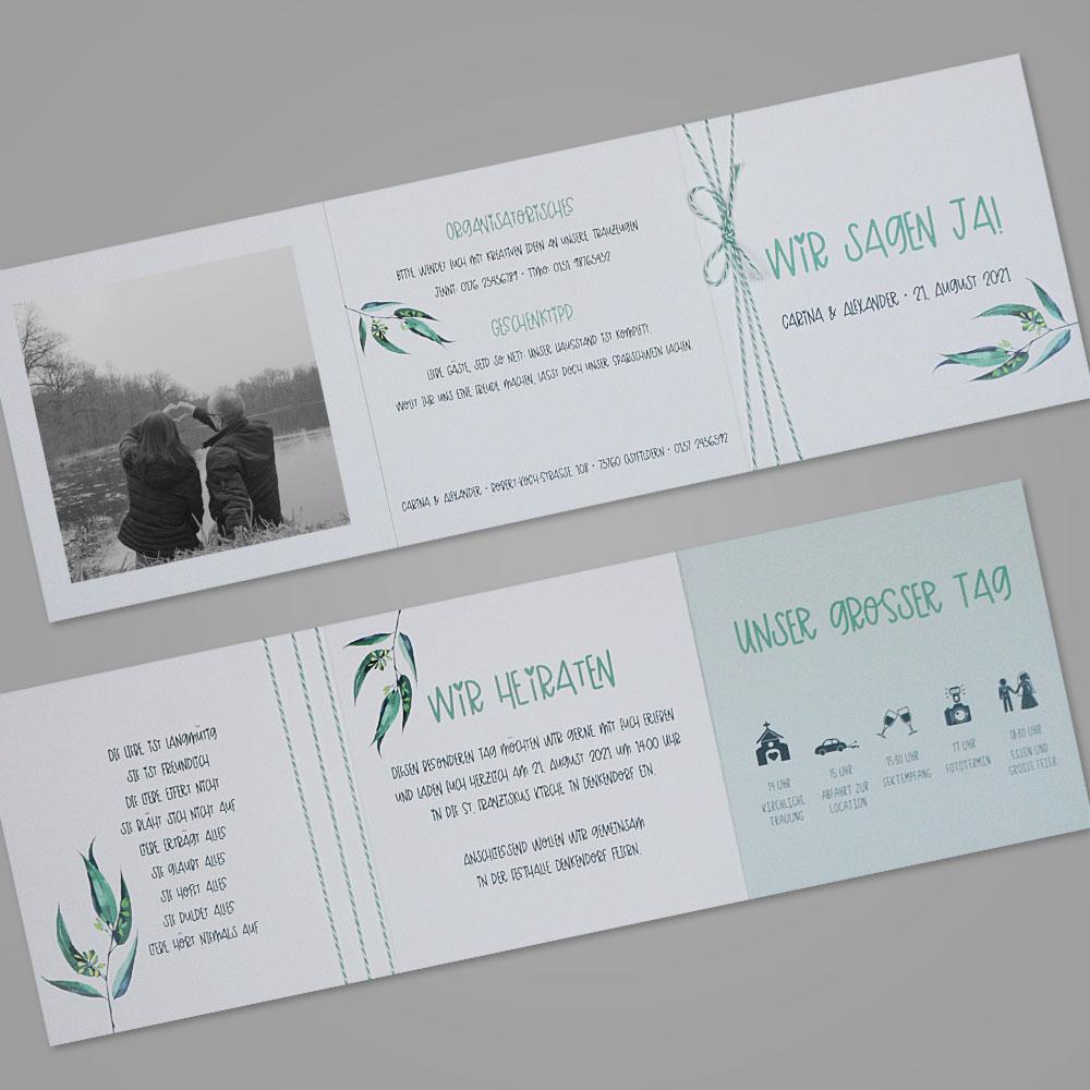Florale Einladungskarte (Nr. 505659)