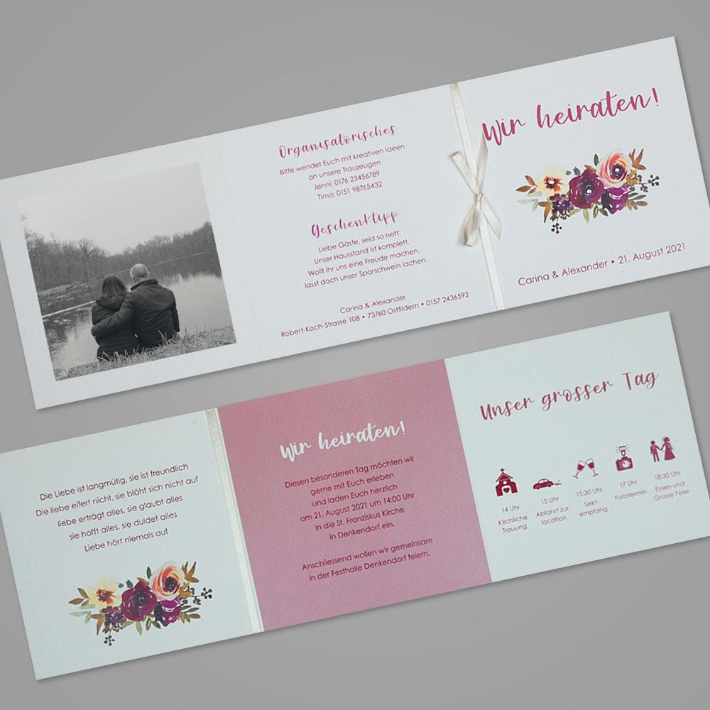 Florale Einladungskarte (Nr. 505661)