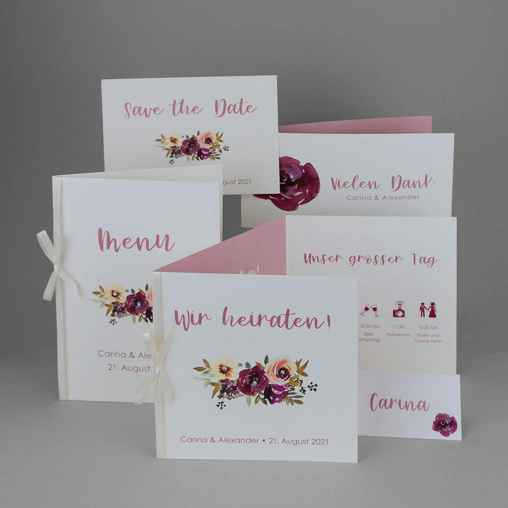 Florales Kartenset (Nr. 505661)