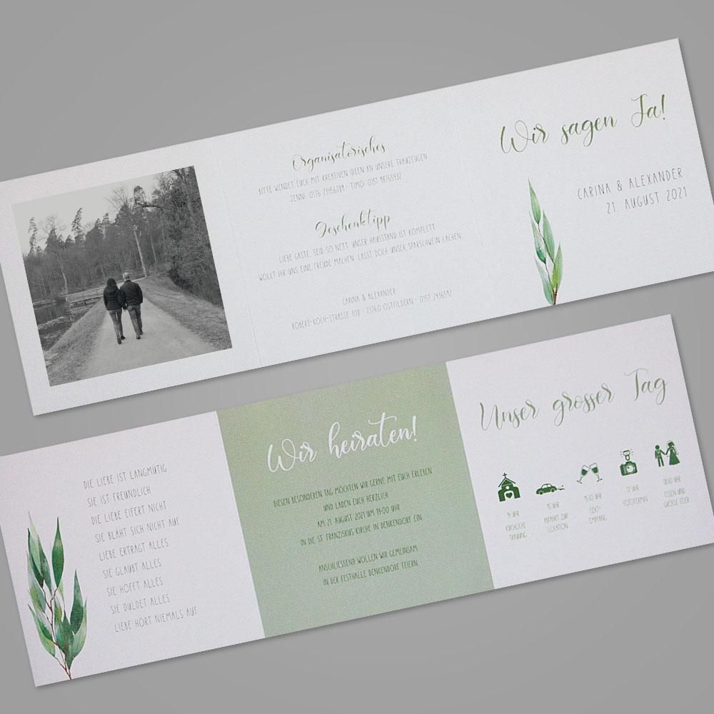 Florale Einladungskarte (Nr. 505663)