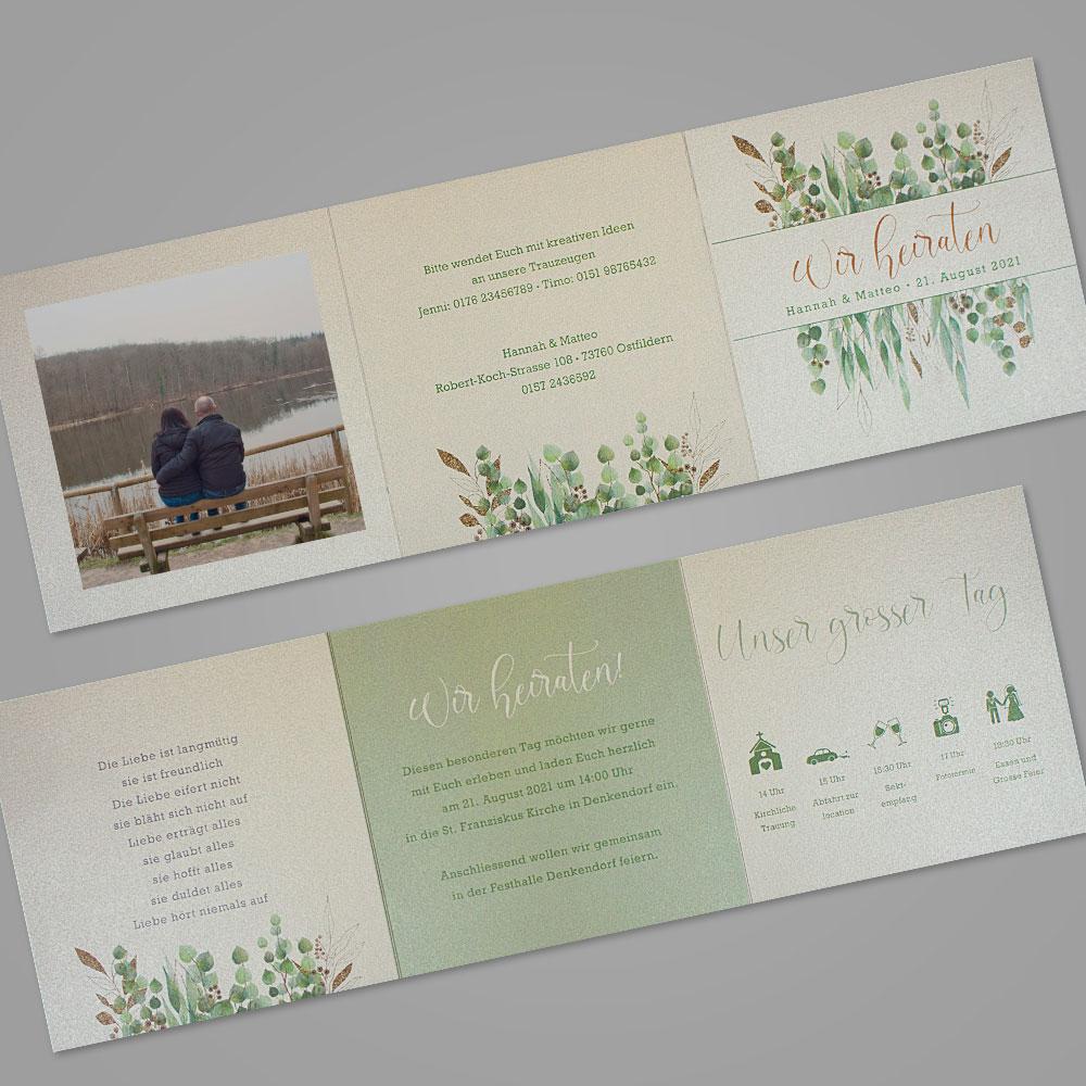 Florale Einladungskarte (Nr. 505665)
